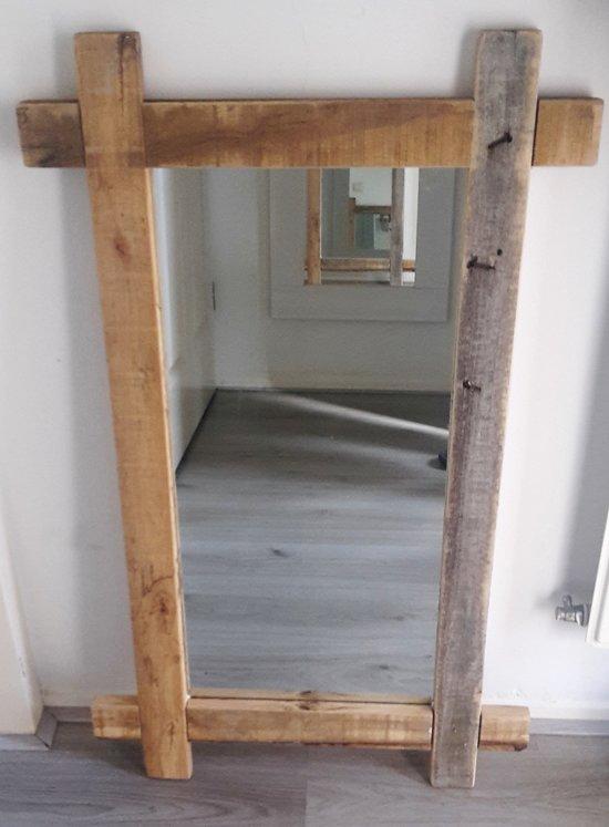 Spiegel Houten Lijst.Spiegel Houten Lijst Doorkruist 90x55cm
