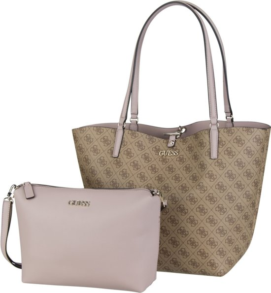 Guess Alby Toggle Tote Schoudertas Bruin