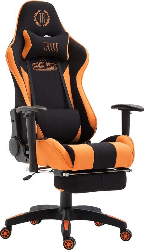 Clp Boavista  - Racing Bureaustoel - Stof - zwart/oranje met voetsteun