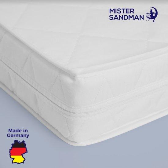 Matras - 90x200  - comfortschuim - microvezel tijk - wit neu