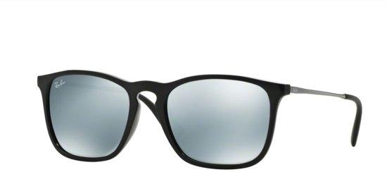 b40bd3f7d07d26 Ray-Ban Chris - zwart met staalgrijs montuur - zilveren spiegel lenzen - 54  mm