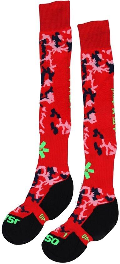 Osaka Red Camo Hockeysokken - Sokken  - rood - 40-44