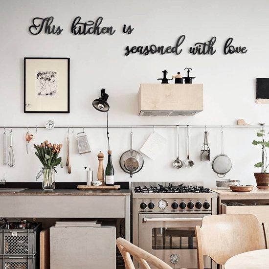 Aan De Muur Decoratie.Keuken Muur Decoratie This Kitchen Is Seasoned With Love Muurteksten En Citaten Metal Wall Quote By Hoagard 6 Stuks Metalen Citaten Muur