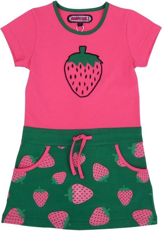 1b50919918f bol.com   Happy Nr. 1-meisjes-jurk, kleed-Aardbei-kleur: roze, groen ...