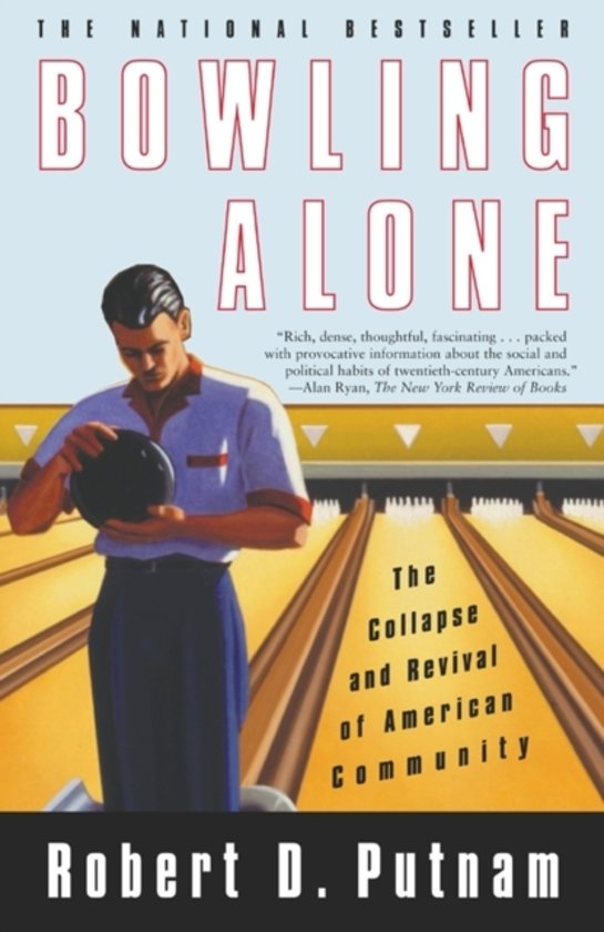 Boek cover Bowling alone van Robert D. Putnam (Onbekend)