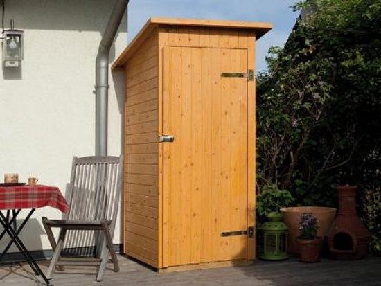 weka houten tuin terraskast plat dak enkele deur. Black Bedroom Furniture Sets. Home Design Ideas