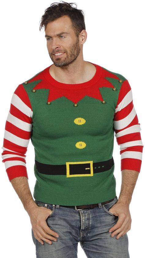 Foute kersttrui groen Christmyass voor volwassenen Heren