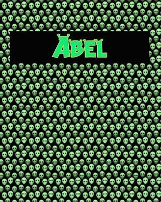 120 Page Handwriting Practice Book with Green Alien Cover Abel