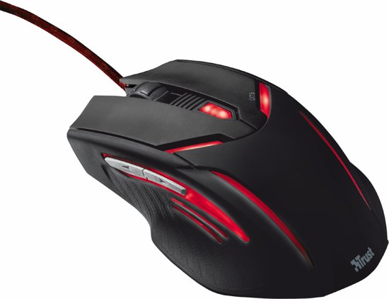 Trust GXT 152 Exent - Illuminated Gaming Muis - Zwart (PC)
