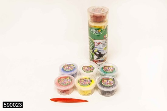 Paulinda Foamklei tube met 6 kleuren a 28 gram