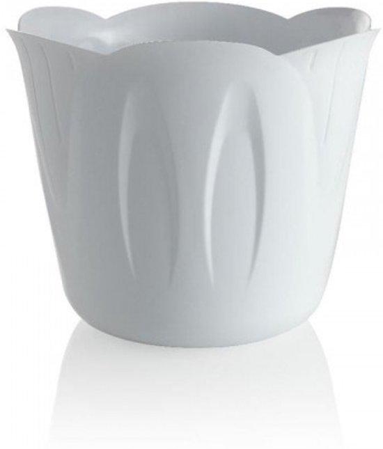 Bloempot Binnen Wit.Bol Com Bloempot Mimosa Wit 30cm Witte Bloembak Voor Buiten En