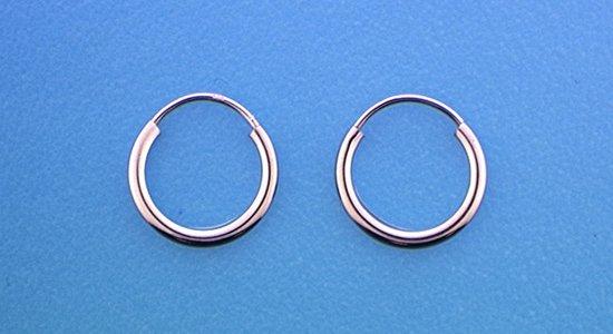 The Jewelry Collection oorringen Ronde Buis - Zilver - 2 mm