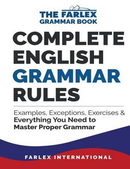 Bol Complete English Grammar Rules Farlex International