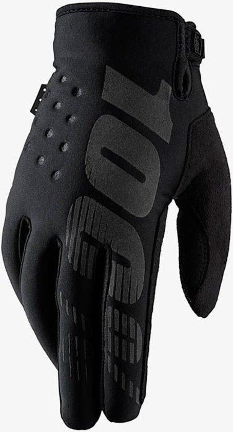 100% Brisker fietshandschoenen zwart Handschoenmaat L