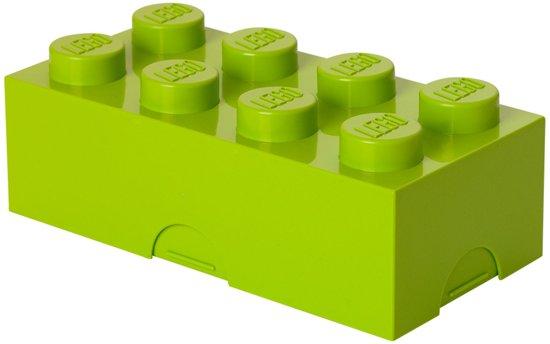 Lego Classic Lunchbox - Brick 8 - Lime groen