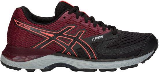 Asics Gel-Pulse 10 G-TX W hardloopschoen Dames  Sportschoenen - Maat 42 - Vrouwen - zwart/rood