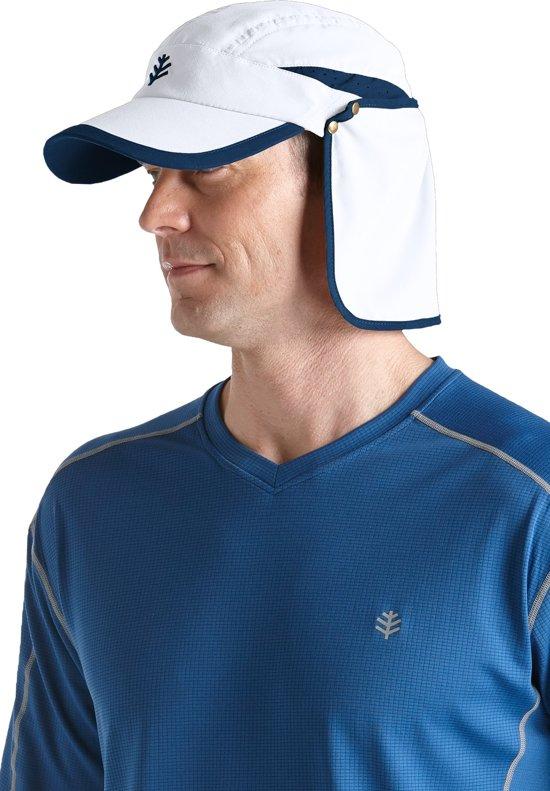 13ef1d4f97b28c bol.com | Coolibar - UV-beschermende unisex sport zonnepet - Wit