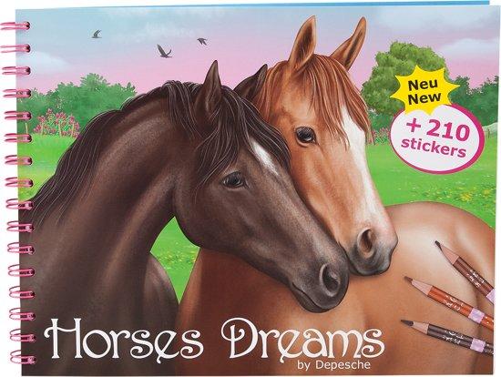 Kleurplaten Topmodel Paarden.Horses Dreams Tekenboek Thema Paarden