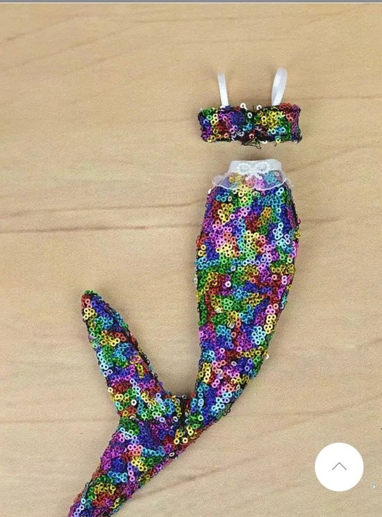 Barbiepop- zeemeermin kleding- Gekleurde pailetten zeemeermin jurk- Barbiepop speelgoed- Zeemeermin jurk- Verpakt- Bellasupplies