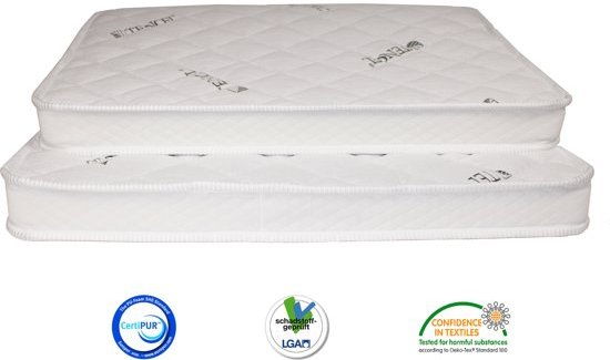Matrassenmaker - Topmatras Tencel 80x200 Koudschuim HR55 medium topper