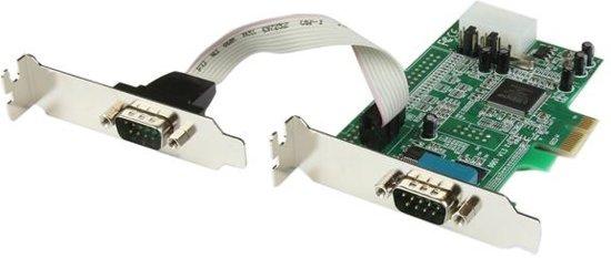 StarTech.com 2-poort Low Profile Native RS232 PCI Express Seriële Kaart met 16550 UART