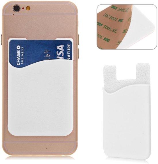 Witte kaarthouder - Hoesje - Pashouder - Mobiel - Telefoon - voor zowel Apple iPhone als Android Samsung