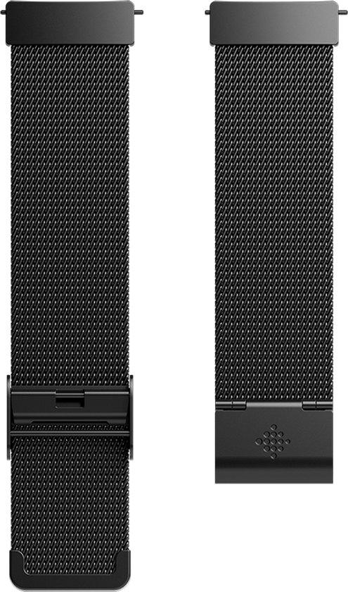 Fitbit Versa (Lite) metalen bandje - Zwart
