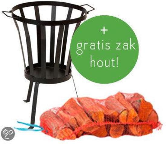 2L Home and Garden - Vuurkorf recht - met gratis zak haardhout