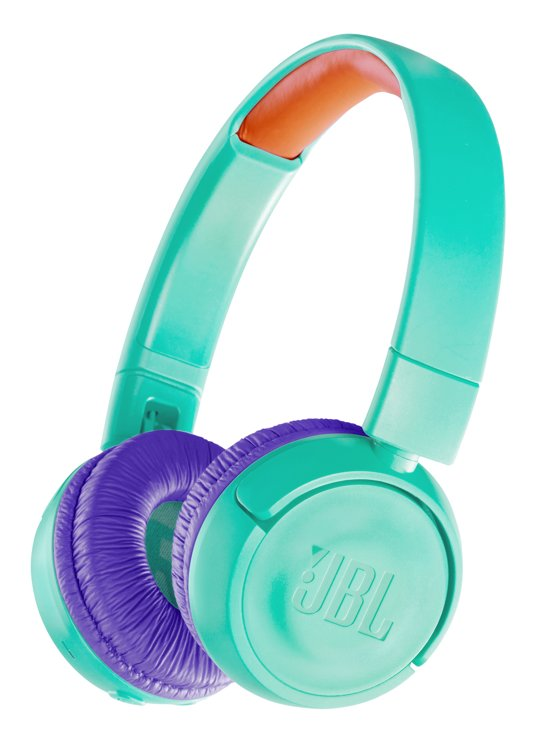 JBL JR300BT Turquoise - Draadloze on-ear kids koptelefoon