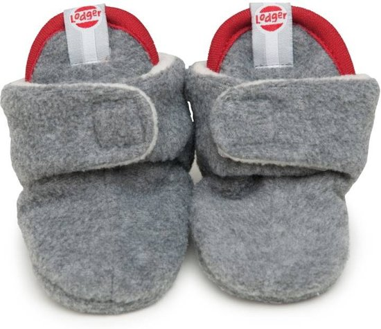 Lodger Baby Slipper fleece - 0-3 mnd - Light Grey Melange