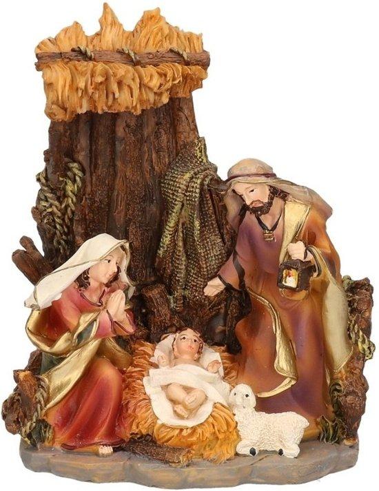 Religieus beeldje van het heilige gezin 16 cm - Jezus / Maria / Jozef - Kerst decoratie / kerststal Valentinaa