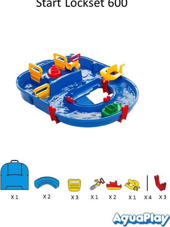 AquaPlay Sluizen Startset 1600 - Waterbaan