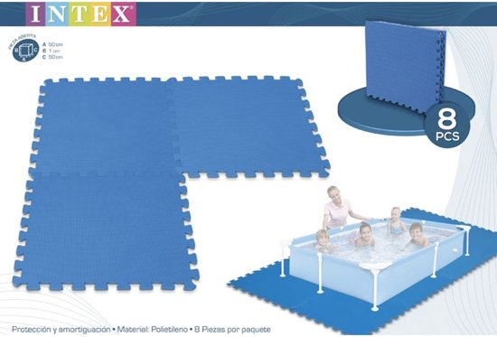 Vloertegels Intex 8 stuks 50x50x1 cm