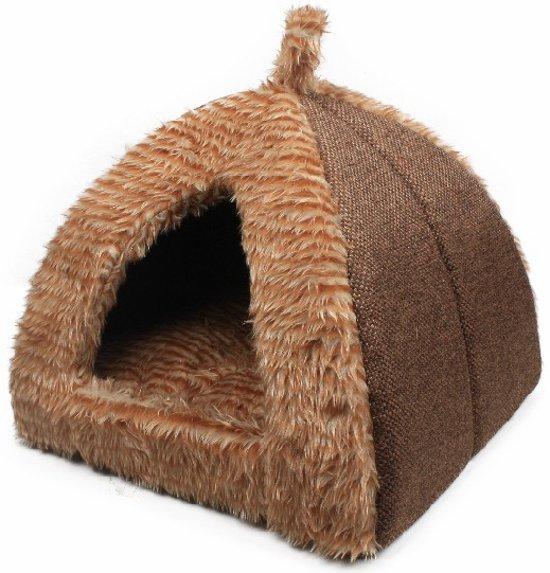 Hondenmand - Kattenmand -Iglo -Beau &Bess-Bruin 35x35x30cm