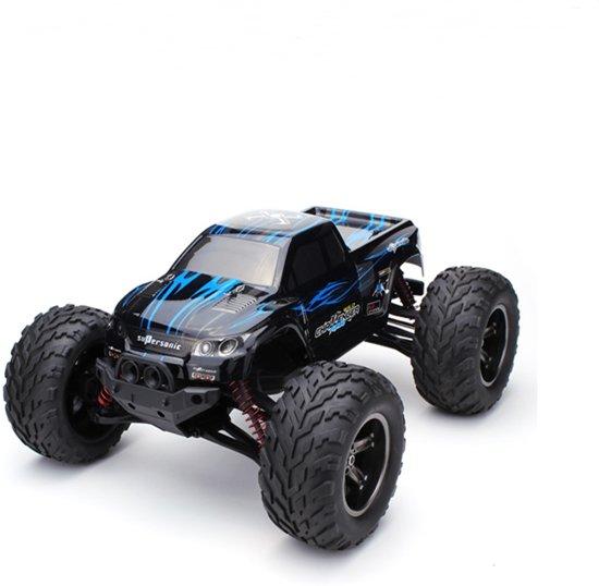 hier online voor het hele gezin laatste korting RC auto MONSTER Truck Oplaadbaar met Afstandsbediening voor Kinderen en  Volwassenen 1:12 2,4 GHz, Snelle Bestuurbare RC Car tot 43km p/u BLAUW