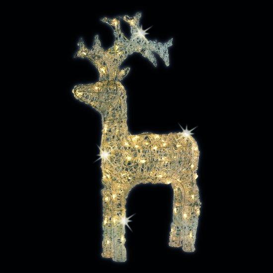 bol.com | HHCP LED Verlichte decoratie rendier - 59 cm - Warm wit