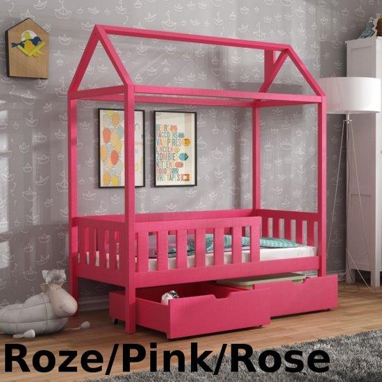 Kinderbed Met Huisje.Bol Com H6 Kinderbed Huis 80x160 Cm Matras Gratis Roze