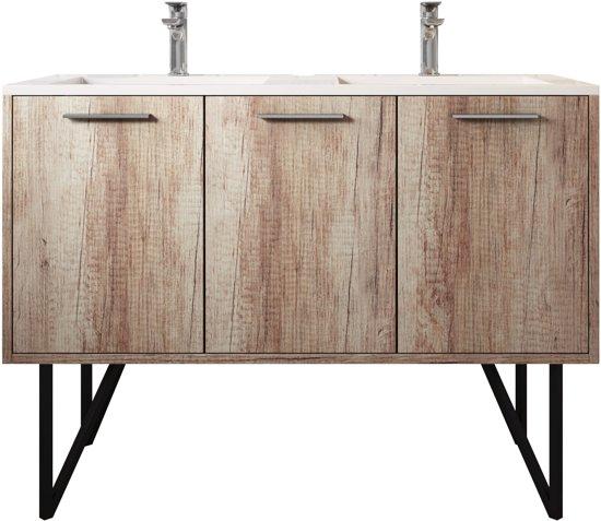 Bol badplaats badkamermeubel tulum cm nature wood kast