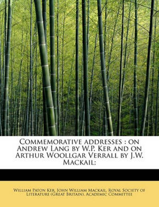 Commemorative Addresses