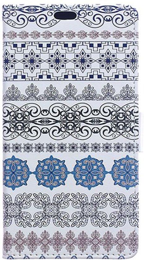 LG Stylus 2 Portemonnee Flip Hoesje Print Flowers in Erpent