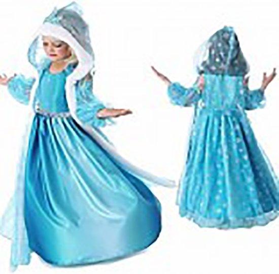 Prinses Elsa verkleedjurk maat 116/122 - cape - (labelmaat 130)