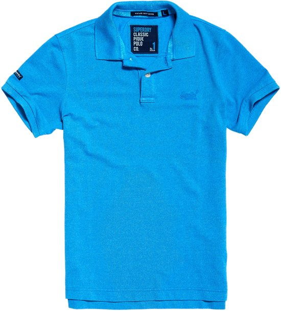 Superdry Classic T shirt Sportpolo Blauw Pique Mannen CasualMaat Polo Heren Xl eDHWEIb29Y