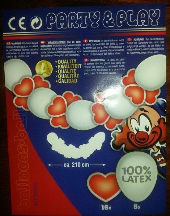 Bolcom Ballonnen Slinger Hartjes 210cm Thema Party Speelgoed