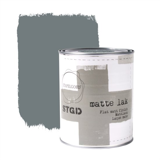 Stapelgoed - Matte Lak - Steelblue - Blauw - 1L