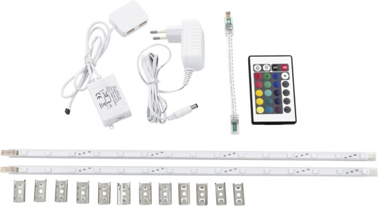 EGLO Ledstrips - RGB Kleur - Afst. Bed. - L 2x425mm