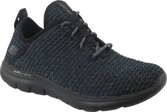 Skechers Flex Appeal 2.0 - Bold Move Sneakers Dames Sportschoenen - Maat 39 - Vrouwen - zwart