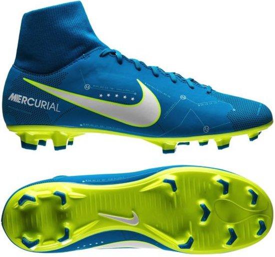 f09aa52bfb1 Nike - Mercurial Victory VI DF Neymar FG - Voetbalschoenen - Blauw Geel -  Maat