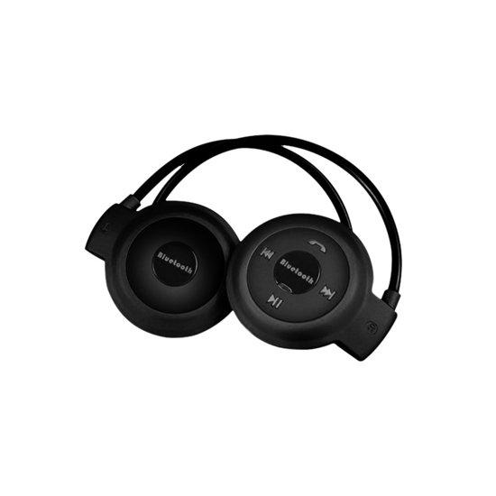Draadloze Sport Oordopjes - Bluetooth Oortjes voor Hardlopen - On-ear Koptelefoon Zwart