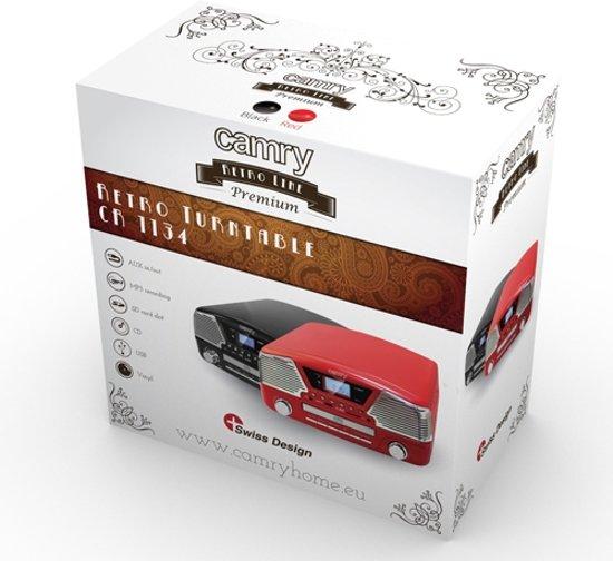 Camry CR 1134 R - Platenspeler - rood - met afstandsbediening