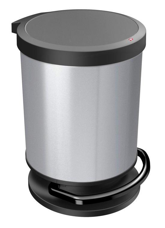 Paso Pedaalemmer 20 Liter.Rotho Paso Pedaalemmer 20 L Zilver Metallic